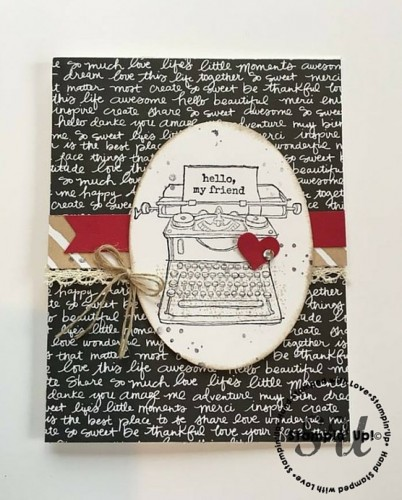 Tap Tap Tap, hello card, Stampin' Up