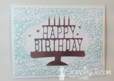 Party Pop Up Thinlits and Confetti Textured Embossing Folder, birthday card, Stampin Up