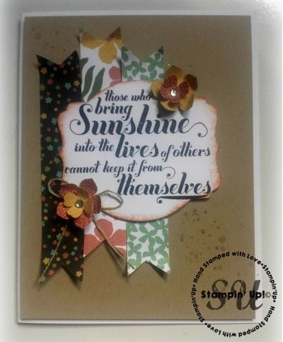 Botanical DSP, Feel Goods Stamp set, Stampin Up