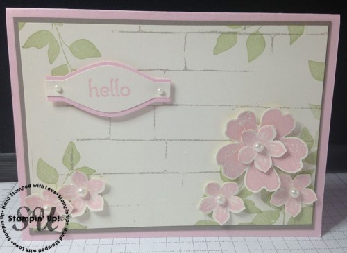 Flower Shop and Petite Petals Punched Card