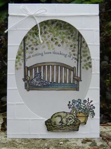 1.'Sitting Here' , Sheltering tree' Stampin'Up! WWW.stamp-ing.blogspot.nl