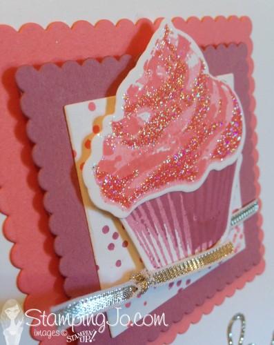 Sweet Cupcake Cutout Glitter by StampingJo