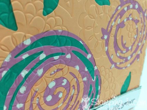 Swirly Bird embossed flower by StampingJo