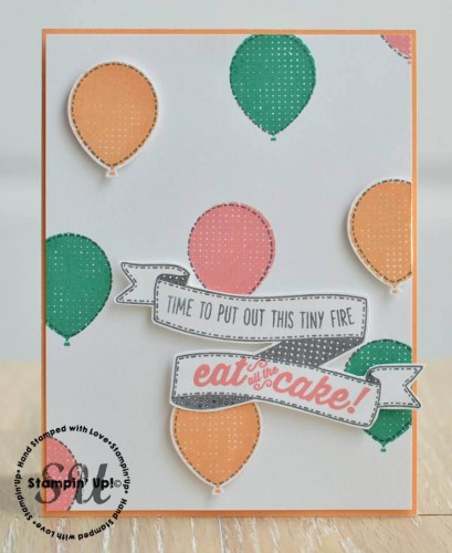 Birthday Banners, Stampin Up