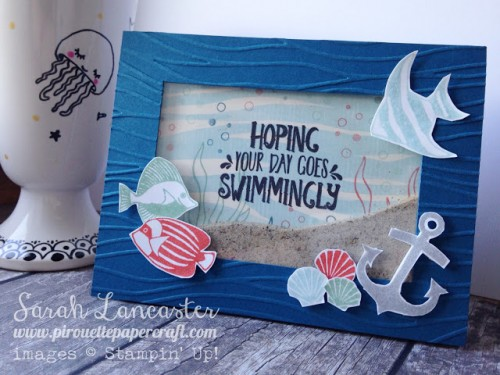 seaside shore shaker card by sarah lancaster