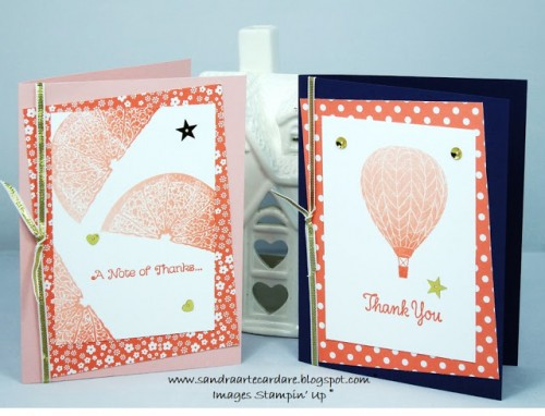 Ombre Effect Stampin Up Summer Sorbet Thankyou Card by Sandra Ronald