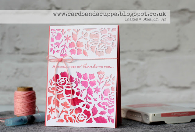 Watercoloured Ombre Effect Stampin' Up! Floral Thinlits Dies by Sarah Jane Rae (8)