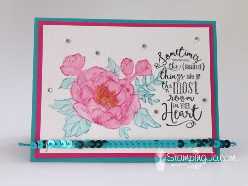 birthday bloom & layering love watercolor by StampingJo