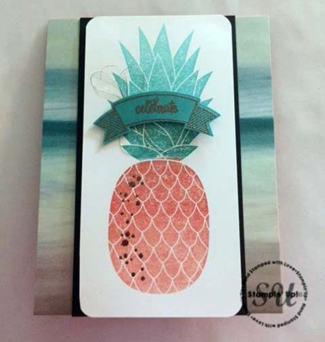 Pineapple background stamp, Stampin Up