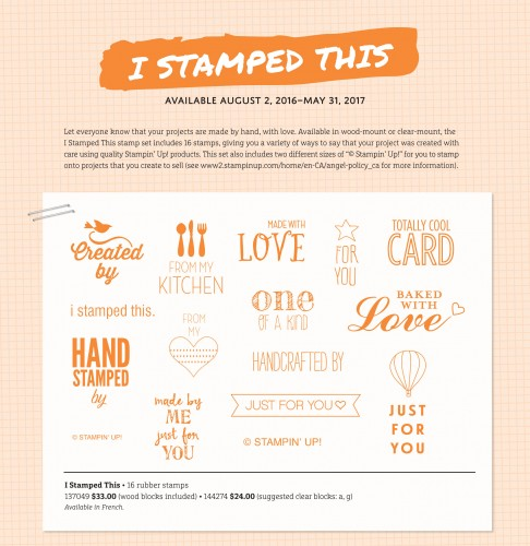 I Stamped This, Stampin Up