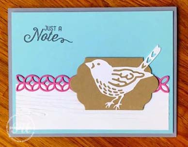 Floral Phrases Note Card, Stampin Up
