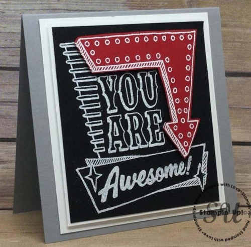 marquee messages, Stampin Up
