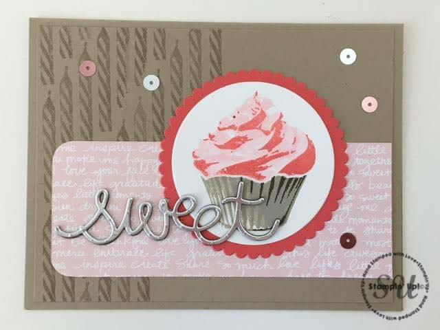 sweet cupcake, stampin up