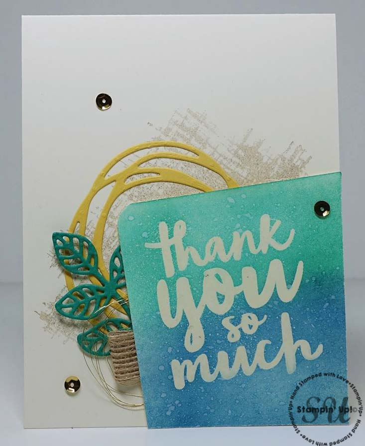 Thankful Thoughts emboss resist, Stampin Up