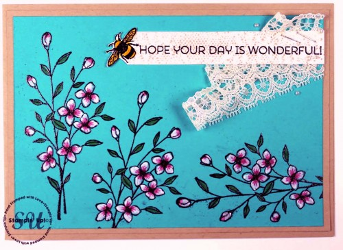 touches of texture, bee, handstamped card, Stampin' Up,