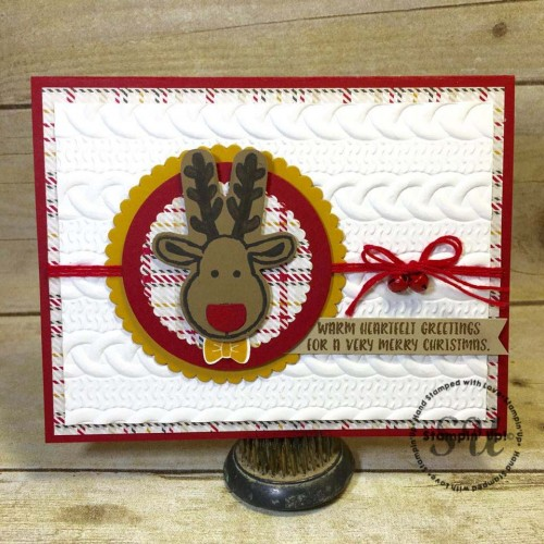Cookie Cutter, cable knit reindeer, Stampin Up