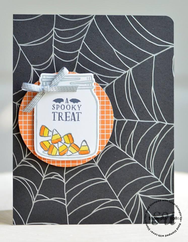 Halloween card using Jar of Haunts, Stampin Up