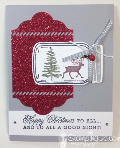 Greetings from Santa, Everyday Jar Framelits, Christmas Card Idea, Stampin Up Canada