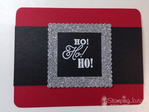 Santa buckle card using Layering Squares Framelits