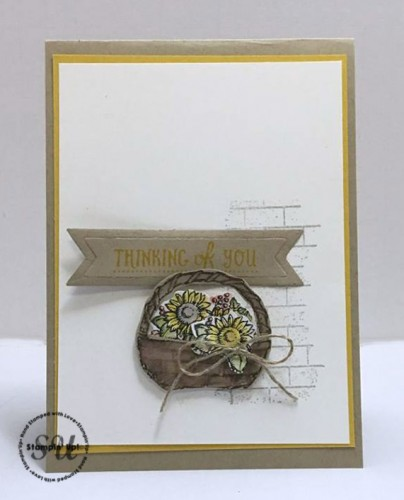 Stampin Up, Basket of Wishes