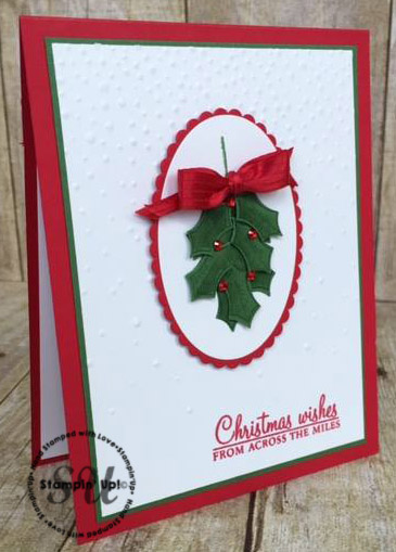 Holly Berry Happiness, Stampin Up, Christmas card