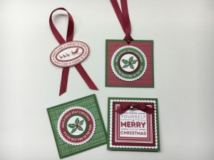 Holly Jolly Layers, Stampin Up hostess stamp set