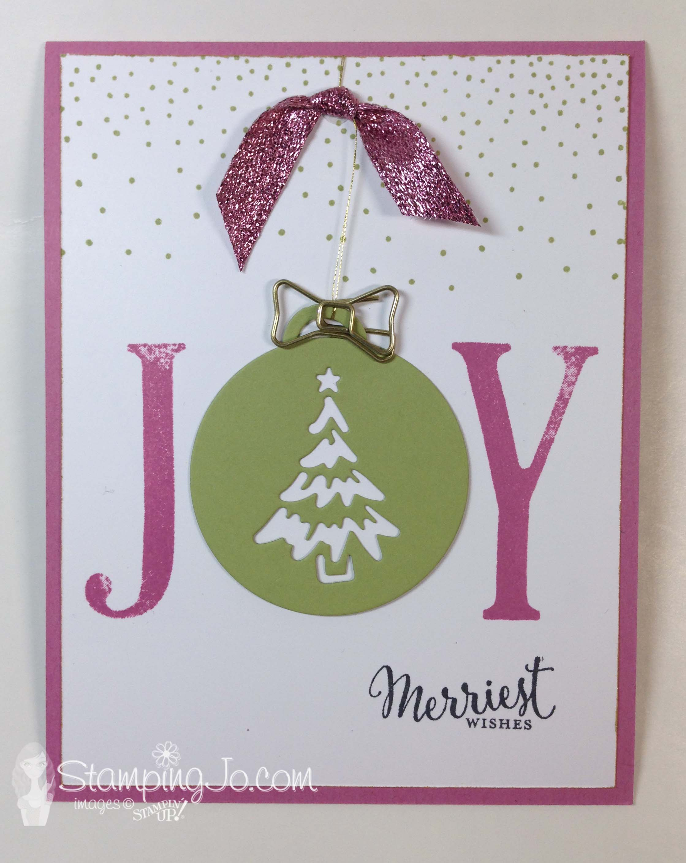 Merriest Wishes, Stampin Up Canada, Christmas card