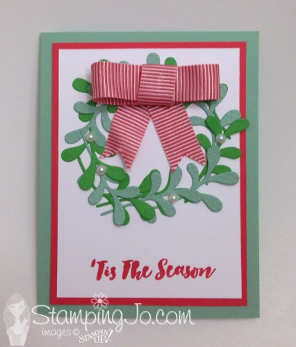 Christmas Pines Wreath card