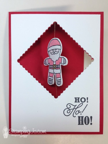 Cookie Cutter Christmas, santa, spinner card, Stampin Up