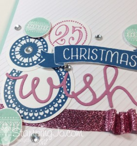 Merriest Wishes, Cupcake Cutout Thinlits, Christmas Card by StampingJo