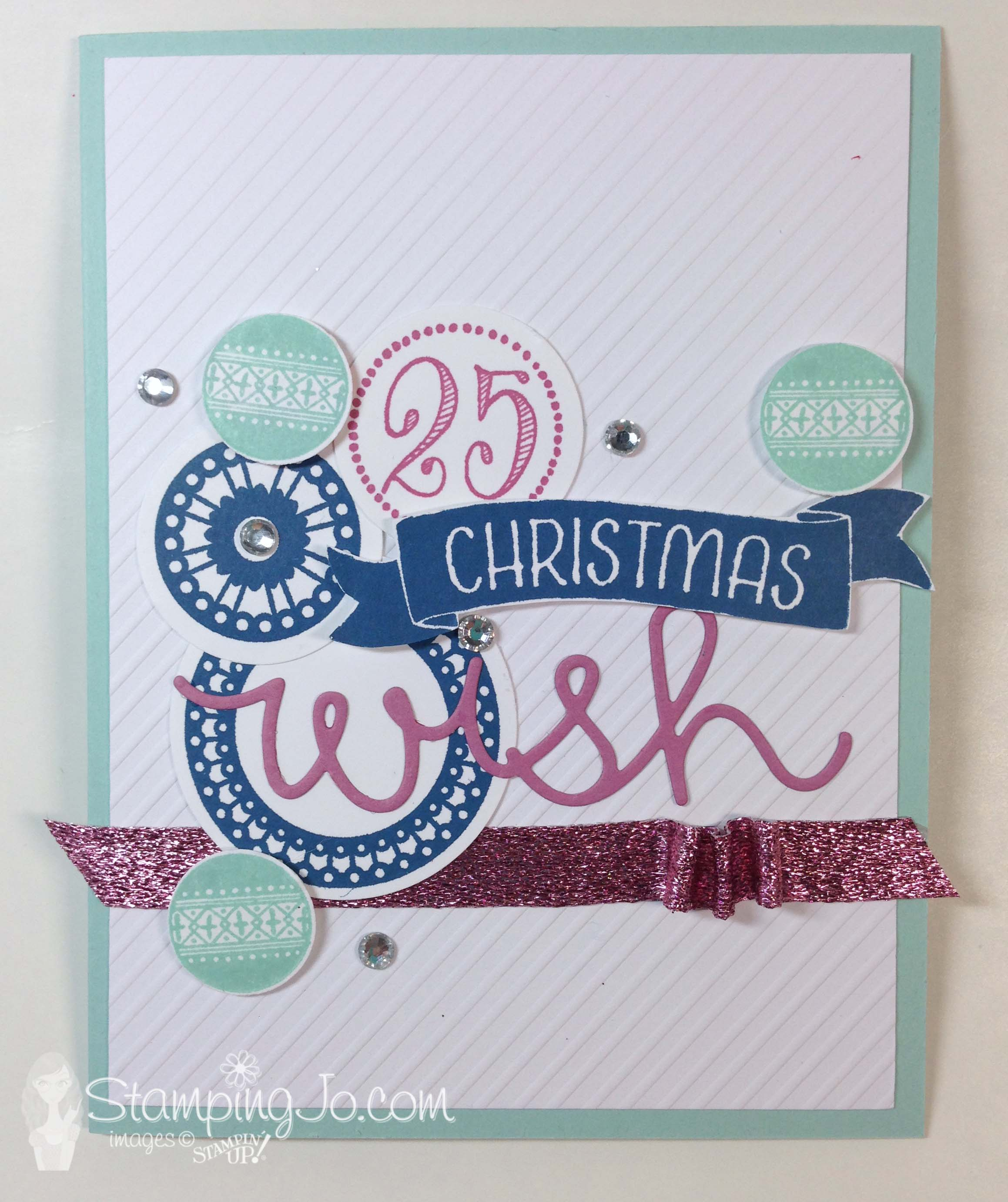 Merriest Wishes stamp set, Cupcake Cutouts Framelits, Stampin Up, by StampingJo