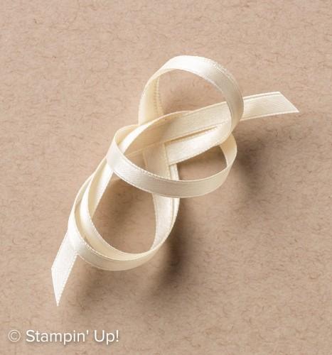"""Very Vanilla 1/4"""" Satin Ribbon-142794, Stampin Up, 2017 Occasions Catalogue"""