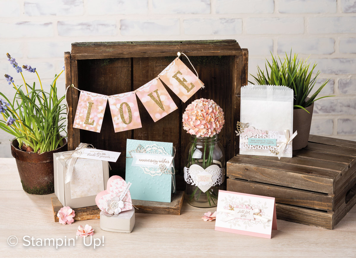 Falling In Love Suite, Stampin Up, 2017 Occasions Catalogue