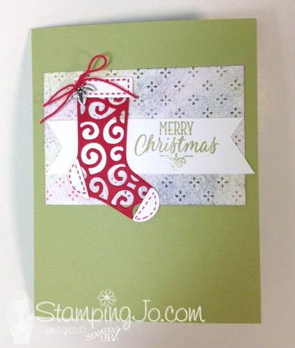 Hang Your Stockings Christmas Card, Stampin Up