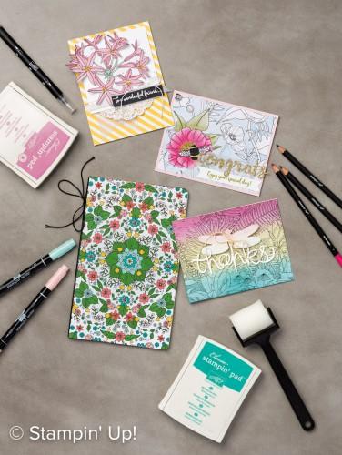 Inside the Lines Designer Series Paper, Stampin Up, Sale-A-Bration freebie