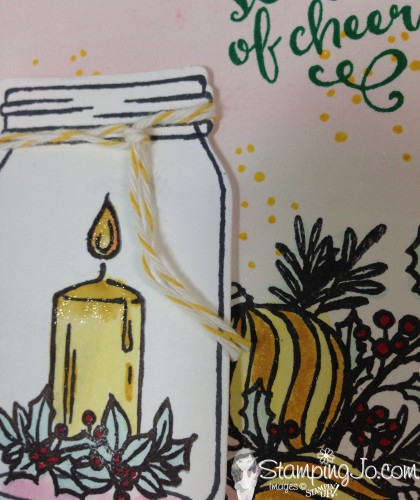 Jar of Cheer Christmas Card, Stampin Up