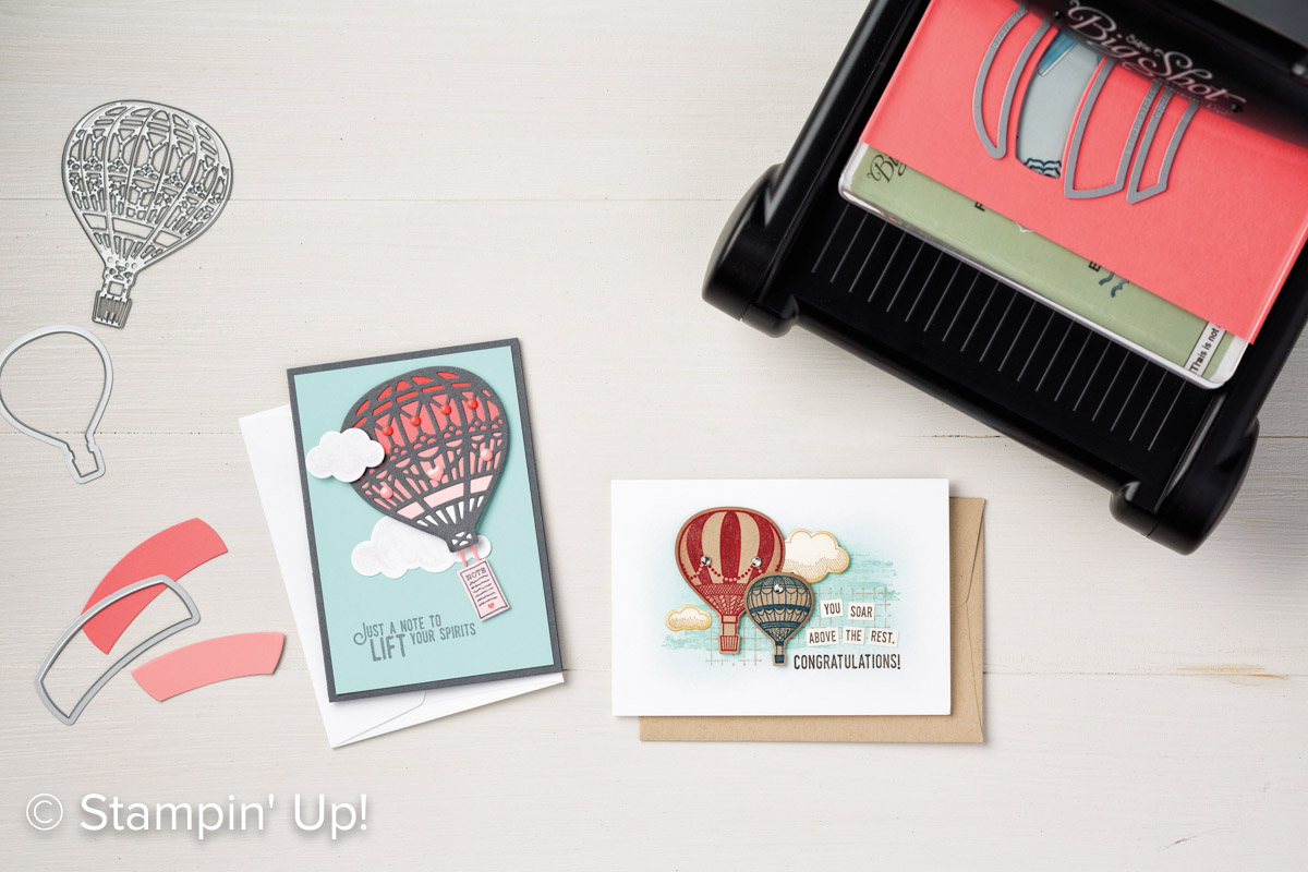 Lift Me Up stamp set, Up & Away Thinlit Dies, Stampin Up, 2017 Occasions Catalogue