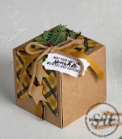 Gift Box Gift Packaging using cardmaking supplies