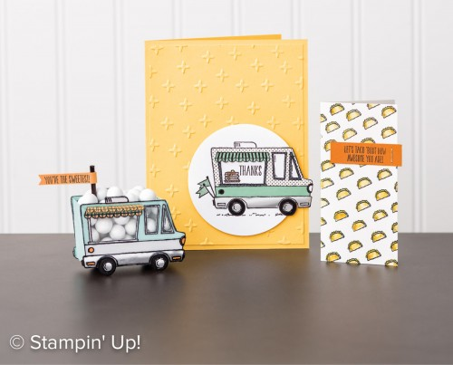 Tasty Trucks, Stampin Up, Sale-A-Bration freebie!