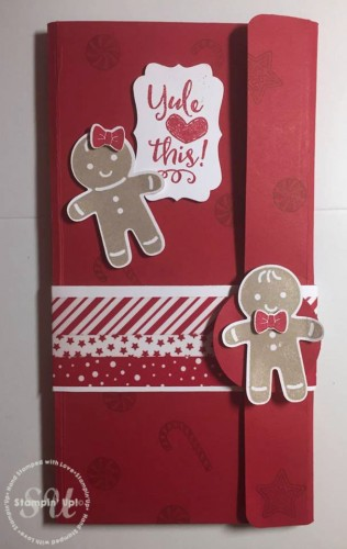 Cookie Cutter Christmas, Note Pad holder, Homemade gift idea, Stampin Up