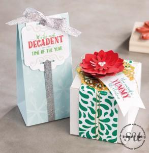 Gift Bag, Gift Box Gift Packaging using cardmaking supplies