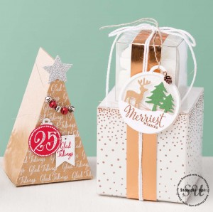 gift boxes, Gift Packaging using cardmaking supplies