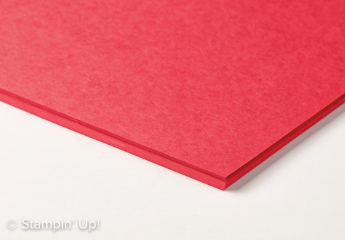 "Real Red Cardstock in 12""x12"" Size-141982, perfect for scrapbooking or gift boxes, Stampin Up 2017 Occasions Catalogue"