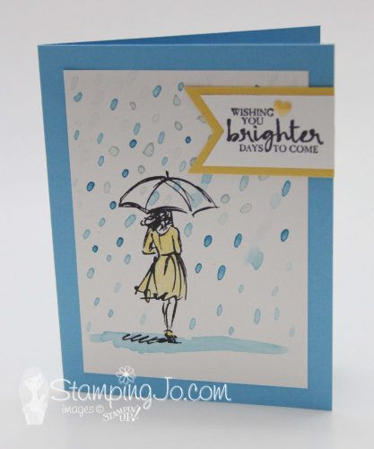 Beautiful You stamp set, Stampin Up, 2017 Occasions Catalogue, watercolor stamped card