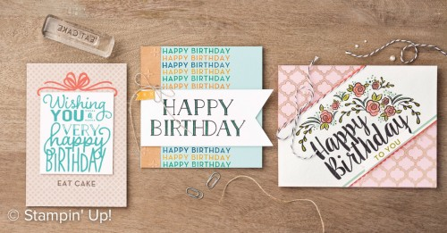 Big On Birthdays stamp set, Stampin Up, 2017 Occasions Catalogue