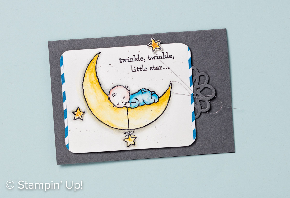 Moon Baby stamp set, Stampin Up, 2017 Occasions Catalogue