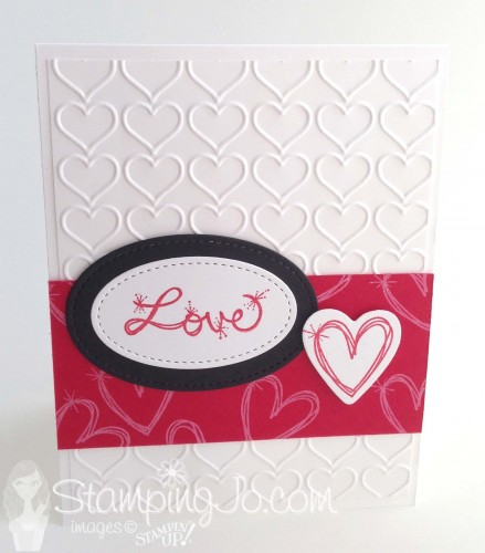 Love Sparkles stamp set, Stampin Up 2017 Occasions catalogue, Valentine card, Anniversary card