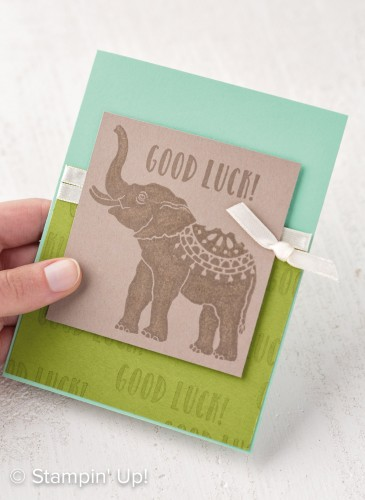 Lucky Elephant stamp set, Stampin Up, 2017 Occasions Catalogue