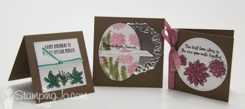 Oh So Succulent stamp set, stamped cards, Stampin Up, 2017 Occasions Catalogue
