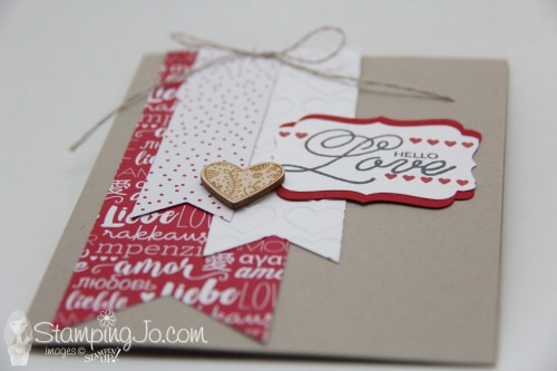 Sealed With Love, Stampin Up, 2017 Occasions Catalogue, Valentine card